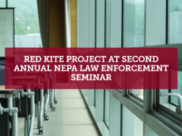 Red Kite Project at Second Annual NEPA Law Enforcement Seminar